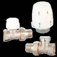 Комплект вентилей STI для радиаторов (авто-регулирование, термоголовка)