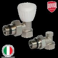 Комплект вентилей ROYAL THERMO для радиаторов (ручное регулирование)