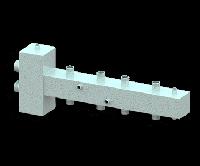 Гидравлический разделитель (гидрострелка) с коллектором СЕВЕР-T4 (4 контура, 70 кВт)