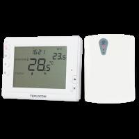 Термостат TEPLOCOM TS-PROG-2AA/3A-RF (комнатный, беспроводной, программируемый)